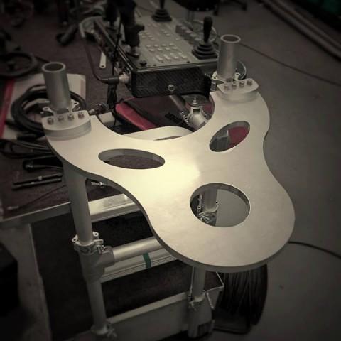 photo of aluminium camera dolly