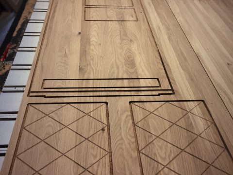 Photo of custom oak drinks cabinet