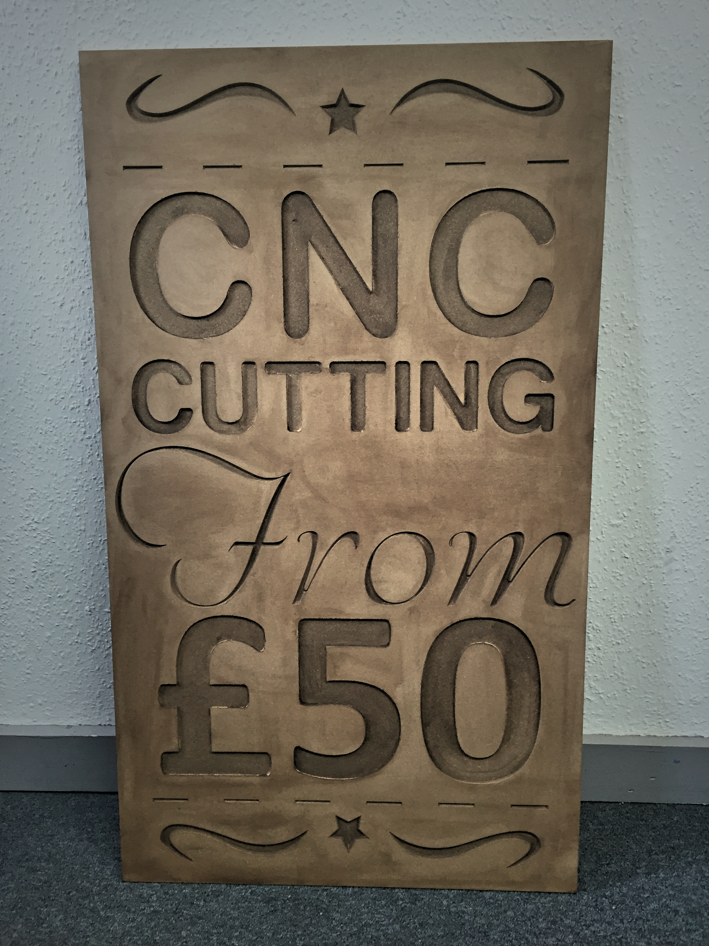 Photo of CNC routed signage