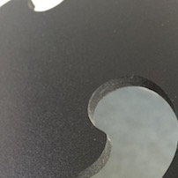 Photo of routed PVC foamboard