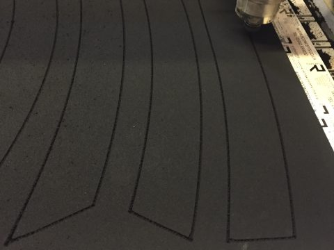 Photo of cnc cut neoprene