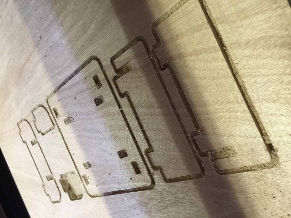 CNC cut plywood for 3D scanner setup