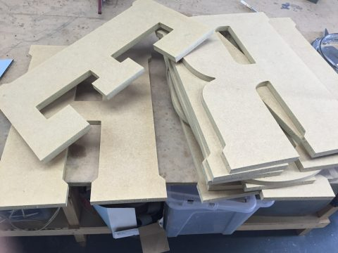 photo of mdf cnc cut letters