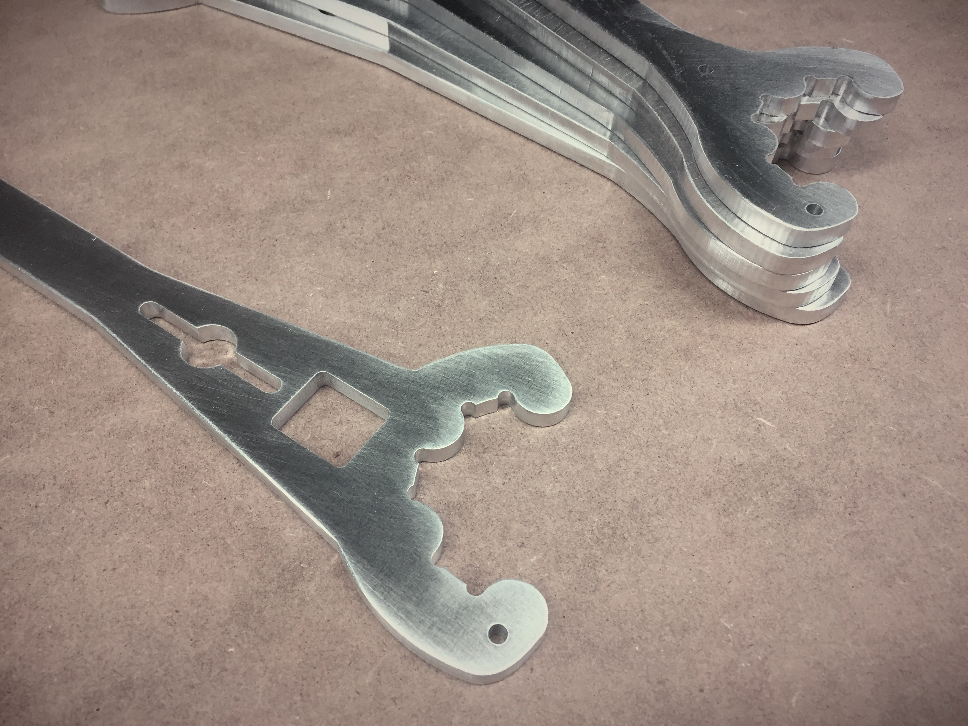 Photo of cnc cut custom aluminium wrenches