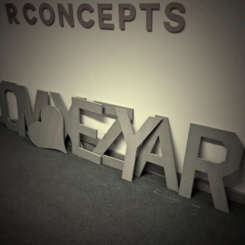 Photo of CNC cut letters