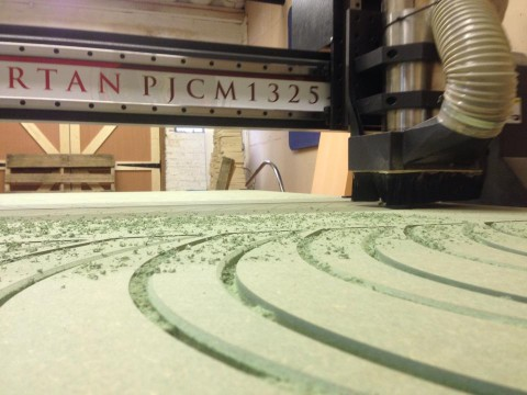 Photo of CNC router in action