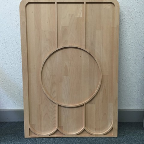 Photo of CNC routed oak panel