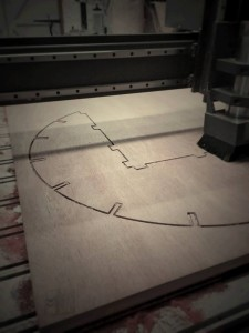 Photo of CNC router cutting plywood
